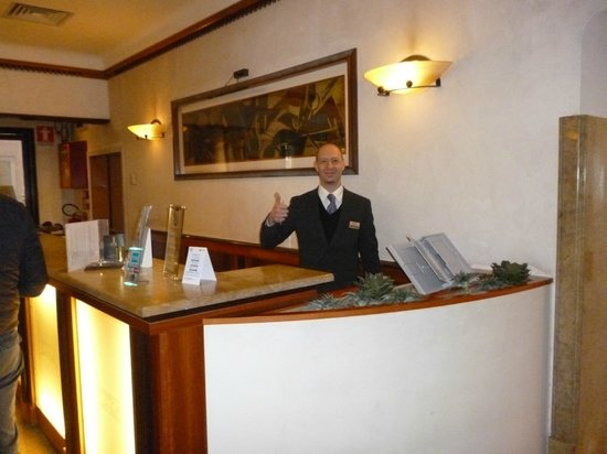 All'Angelo Hotel:                   Friendly reception staff