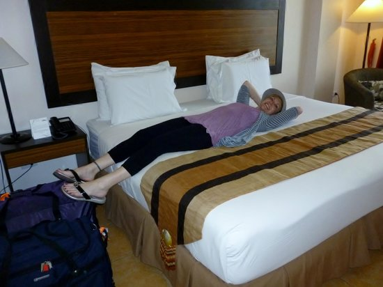Hotel Tropika Davao:                   Relaxing in the room after our flight.