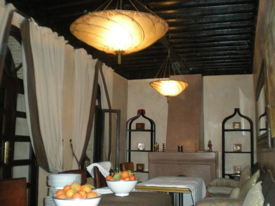 Riad Kheirredine:                                     The Riad Dining room