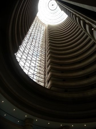 Grand Hyatt Santiago:                   lobby looking up