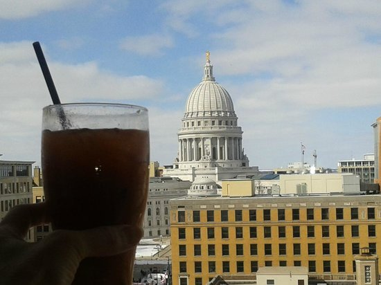 Hilton Madison Monona Terrace:                                     Morning view of the Capital
