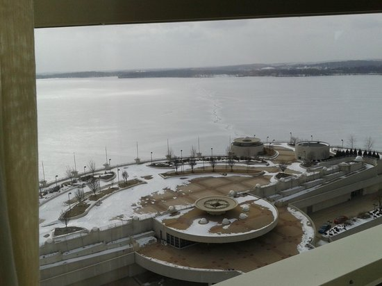 Hilton Madison Monona Terrace:                                     View from the 14th Floor Breakfast Buffet room