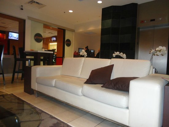 Bond Place Hotel:                   lobby and computer area in the background