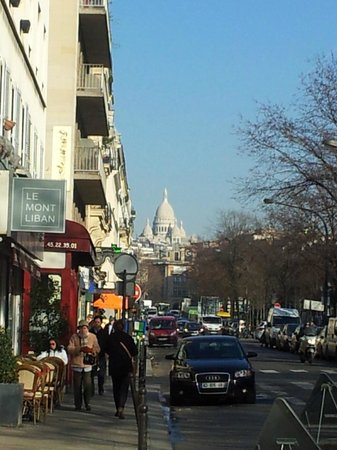 Hotel Berne Opera:                                     Sacre Coeur, view from the Road near Hotel