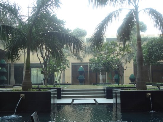 Crowne Plaza Hotel Gurgaon:                   The gardens next to the restaurant