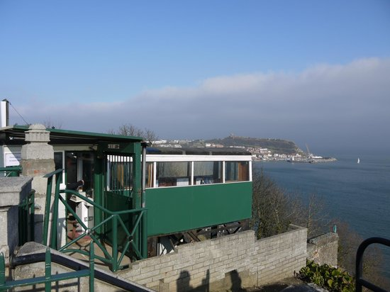 Mansion House Scarborough:                   cliff lift nearby for those with 'climbing' issues