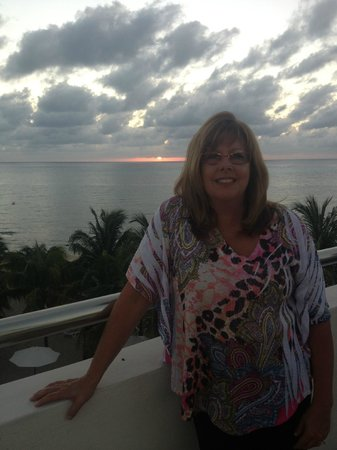 Secrets Aura Cozumel:                   Me at the Sky Bar - Great Views