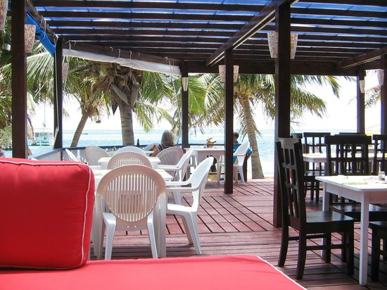 Holiday Hotel:                   Open air beach side dining