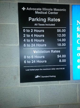 Days Inn Chicago:                   nearby parking rates