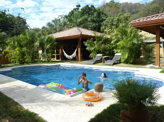 Villas Santa Teresa:                   The kids enjoying the pool