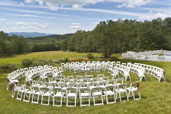 Shrewsbury, VT: wedding ceremony on lawn