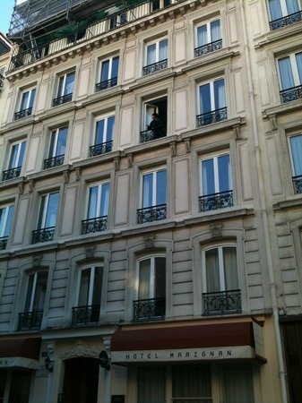 Hotel Marignan:                   You can have great views from the windows of your room