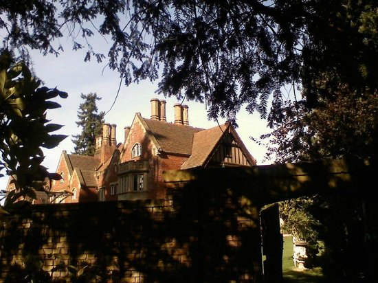 Thornewood Castle Inn and Gardens:                   View of the castle from the garden