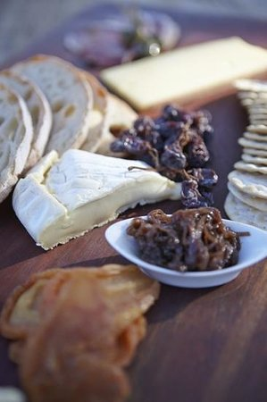 Llewellin's Guest House:                   James's cheese platter.