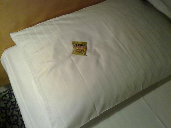 Hotel Cristall:                   Haribo on the pillow for each guest