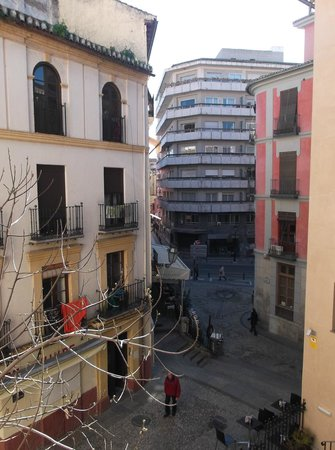 Hotel Monjas del Carmen:                   View from room at rear of hotel
