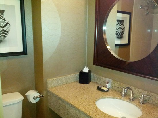 Sheraton Denver Tech Center Hotel: Room 715 - tiny bathroom