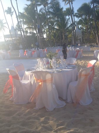 Riu Palace Punta Cana:                                     beach wedding at the RIU Palace PC on Thursday 2/21