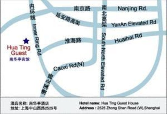 Hua Ting Guest House: Map