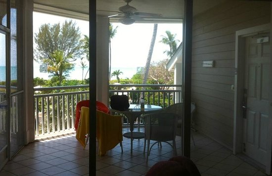 Sanibel Cottages Resort:                   View of our balcony