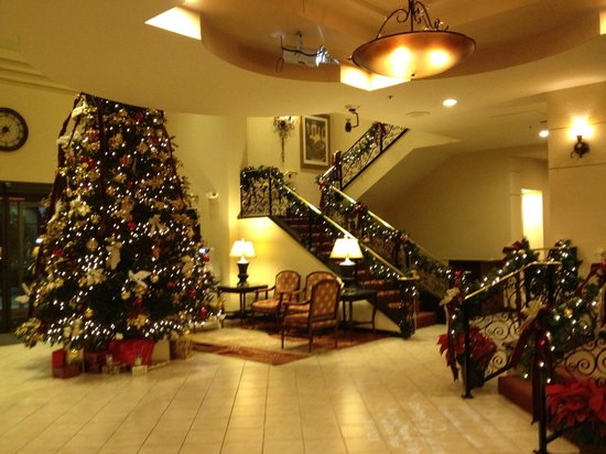 The Plaza Suites:                   Lobby during the Christmas Holidays