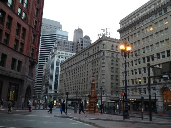 Palace Hotel:                   View from Kearney St. (from near Union Square)