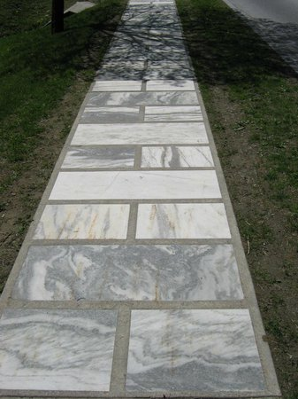 The Equinox Golf Resort & Spa: Marble walkways in the town!