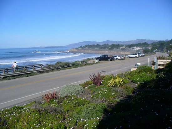 Moonstone Landing:                   View of Road/Ocean from Patio