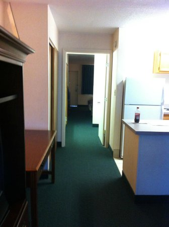 Point Plaza Suites and Conference Hotel:                   View of King Suite, not what is shown on webpage