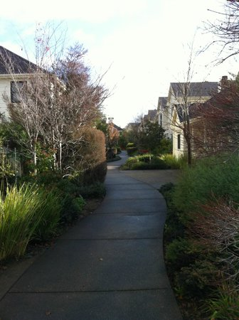 MacArthur Place - Sonoma's Historic Inn & Spa:                   Path from Room to Spa & Restaurant
