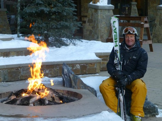 Trailhead Lodge:                   Open fire at top of the gondola provided great atmosphere