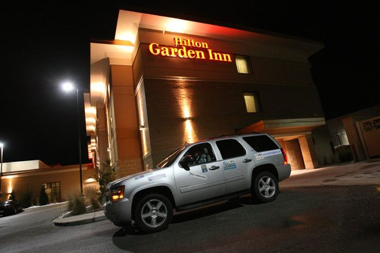 Hilton Garden Inn Milwaukee Airport:                   Arriving at the hotel in the night