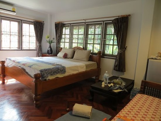 Libra Guest House:                   Libra room 108, quiet & bright, plenty of room for yoga..