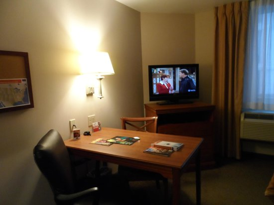Candlewood Suites New York City Times Square:                   table and tv