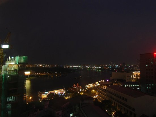 Grand Hotel Saigon:                                     View from the roof bar.