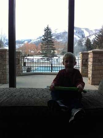 Hotel Park City : view from the lobby