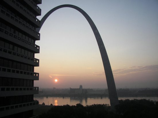 Drury Plaza Hotel at the Arch:                   Morning view from our room