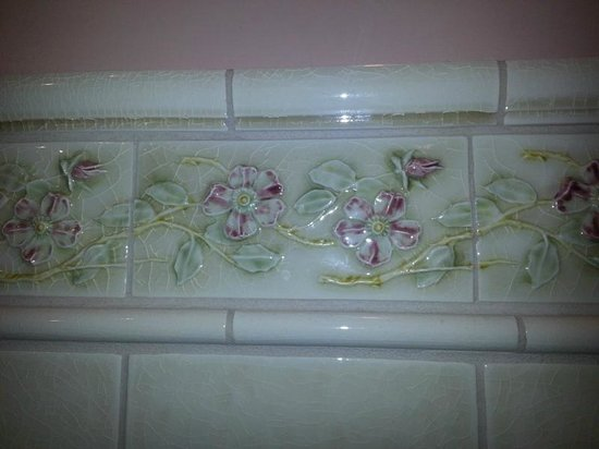 Britt Scripps Inn: Love this tile in the bathroom