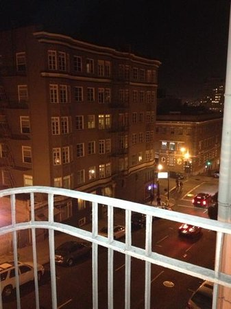 Nob Hill Hotel:                   view from our balcony
