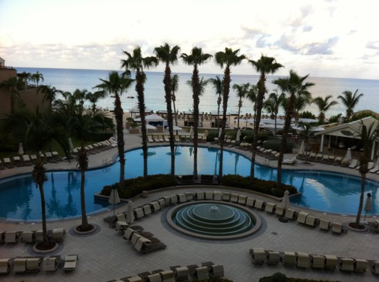 Ritz-Carlton Grand Cayman:                   View from our balcony