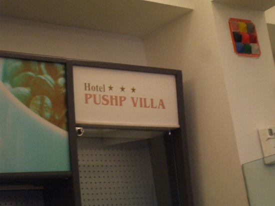 Pushp-Villa Hotel:                   So i didn't forget the name