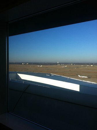 Grand Hyatt DFW:                   View of runways