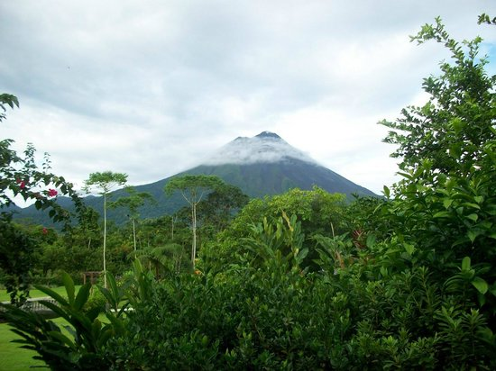 Arenal Manoa Hotel & Spa:                   Arenal  Volcano in cloud cover from our patio