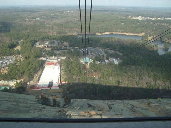 Stone Mountain Park:                   Going down in the Sky Ride