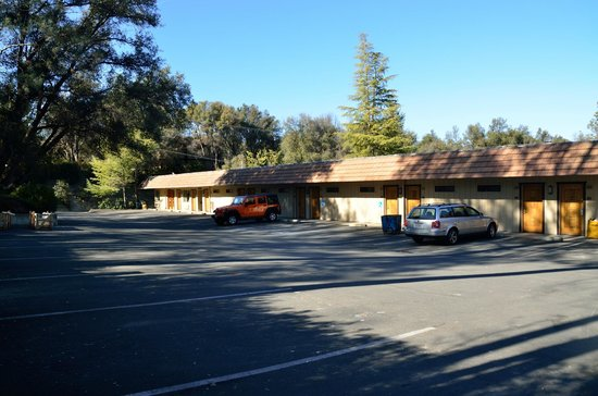 Oakhurst, CA:                   View of parking lot of our building.