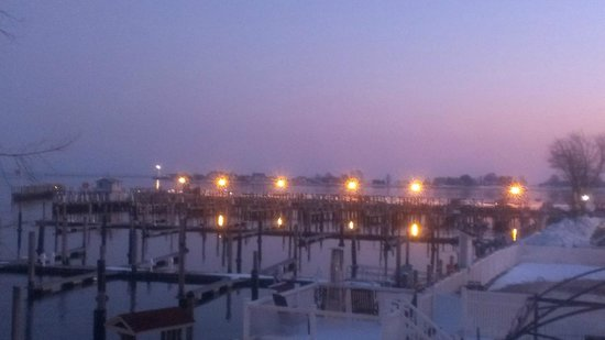 Saybrook Point Inn & Spa:                   twilight view