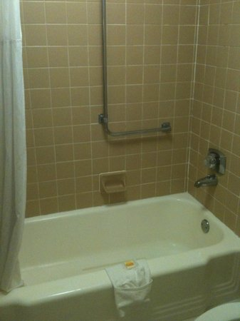 Days Inn Asheville Mall:                   bug tub with missing grout