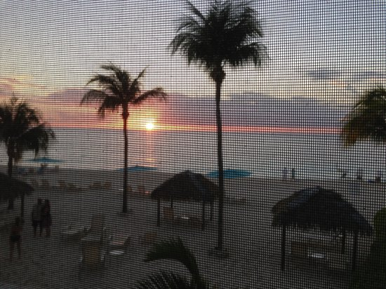 Coral Stone Club :                   Sunset from our unit 31