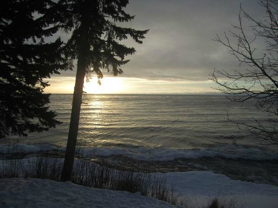 Solbakken Resort:                   View from deck of Superior Sunrise