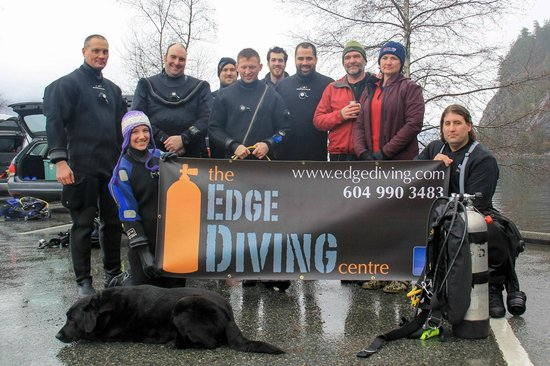 , : Some of our divers doing a Lingcod Eggmass Survey for the Vancouver Aquarium at Porteau Cove